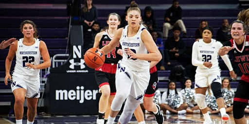 Northwestern Women's Basketball with Game On! Sports 4 Girls