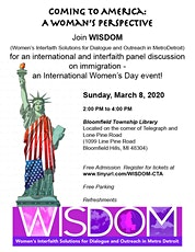 WISDOM Presents: Coming to America: A Woman's Perspective tickets