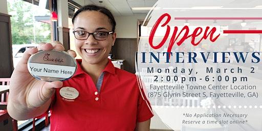 Chick-fil-A Fayetteville Towne Center Open Interviews