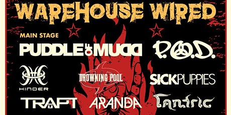 WAREHOUSE WIRED w/ PUDDLE OF MUDD / P.O.D. / DOWNFALL 2012 tickets