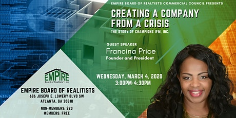 """""""Creating A Company From A Crisis"""" 