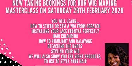 Wig  Making Masterclass tickets