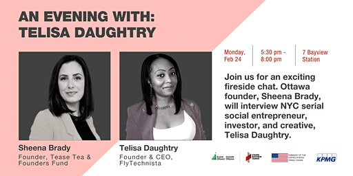 An Evening with TeLisa Daughtry, Founder, Investor & Creative from NYC