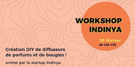 Workshop Indiniya création DIY de diffuseur de parfum et bougie billets