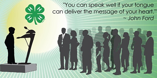 Worcester County 4-H Public Speaking Contest