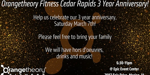 3 Year Anniversary Party!