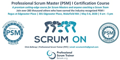 Scrum.org Professional Scrum Master PSM - Wakefield MA - May 5-6, 2020 tickets