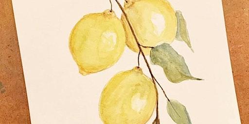 Spring Lemons Watercolor Workshop