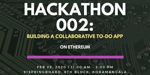 Blockchain Programming Workshop #2: Collaborative TODO app