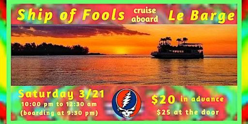 Late night Ship of Fools cruise aboard Le Barge on Sarasota Bay