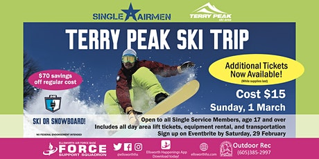 Ellsworth AFB Single Airmen Terry Peak Ski Trip tickets