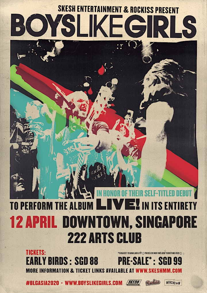 Boys Like Girls Live In Singapore 2021: Self Title image
