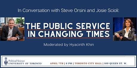 In Conversation with Steve Orsini and Josie Scioli: The Public Service in Changing Times tickets