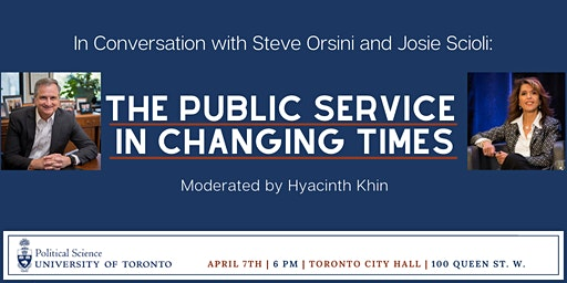 In Conversation with Steve Orsini and Josie Scioli: The Public Service in Changing Times
