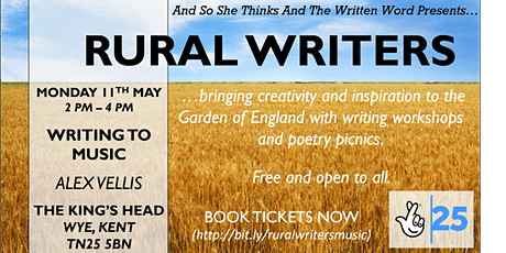 Rural Writers - Writing to music with Alex Vellis tickets