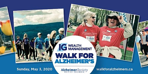 Kelowna IG Wealth Management Walk for Alzheimer's Kick Off