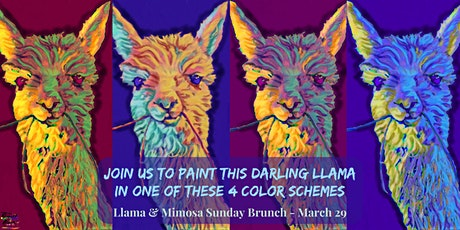 Llama & Mimosa Sunday Brunch Paint Party at Brush & Cork tickets