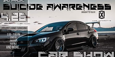 Suicide Awareness Car Show - Brought to you by Luxe Automotive tickets