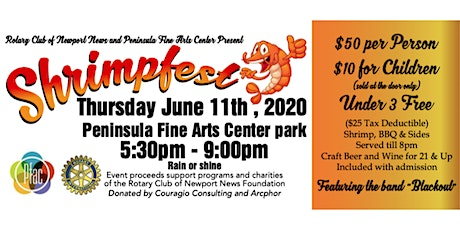 Shrimpfest 2020!!! Presented by Rotary Club of Newport News tickets