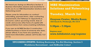 MBE Maximization Solutions and Networking
