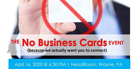 The No Business Card Event sponsored by PowerMatch tickets