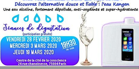 Etes vous sensible à l'eau que vous buvez ? Découvrez l'alternative douce et fiable, l'eau Kangen - Vendredi 28 février 19H30 Paris billets