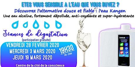 Etes vous sensible à l'eau que vous buvez ? Découvrez l'alternative douce et fiable, l'eau Kangen - Mercredi 4 mars 2020 19H30 Paris billets