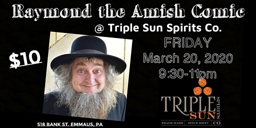 Raymond the Amish Comic @Triple Sun Spirits Co. -Emmaus
