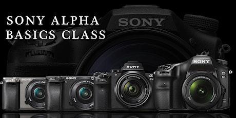 Sony Alpha 101 Class tickets