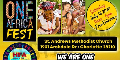 One Africa  Fest  is one day event that celebrate the richness of African