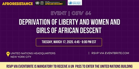 CSW64: Deprivation of liberty  and women and girls of African descent tickets