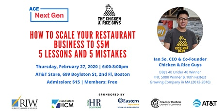 How to Scale Your Restaurant Business to $5M: 5 Lessons and 5 Mistakes tickets