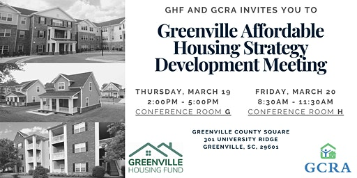 Greenville Affordable Housing Strategy Development Meeting