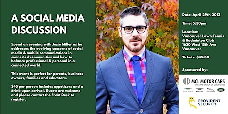 A Social Media Discussion with Jesse Miller tickets