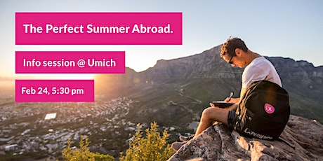 The Perfect Summer Abroad – Free Info Session + Pizza @UMich tickets