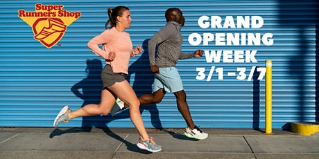 Super Runners Shop Grand Opening Customer Appreciation Week tickets