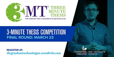 Three Minute Thesis (3MT) Competition Final Round tickets