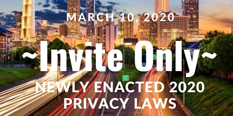 Newly Enacted 2020 Privacy Laws - What You Need to Know tickets