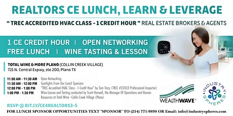 "Free Realtors CE Class (TREC Accredited ""HVAC"" Class - 1 Credit Hour) tickets"