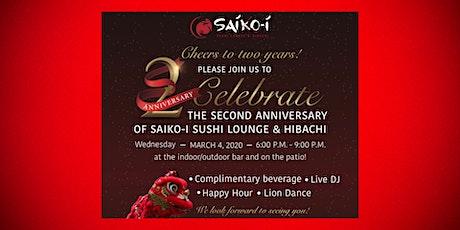 Saiko-i Sushi Lounge & Hibachi 2nd Anniversary Party, Boca Raton tickets