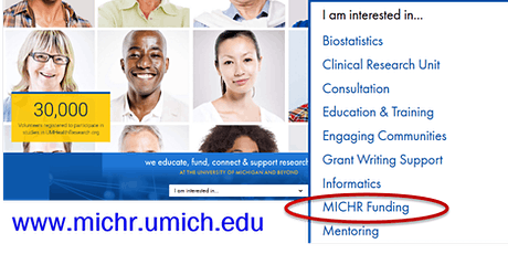 MICHR Community-Engaged Research Funding Opportunities - Winter 2020 Webinar tickets