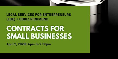 Contracts for Small Businesses - Virtual Workshop tickets