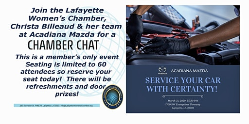 CHAMBER CHAT - SERVICING YOUR CAR WITH CERTAINTY