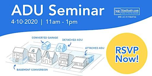 2020 ADU Seminar in Monterey Park by Manrealty.com