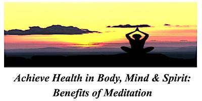 St. John United Church of Christ - Benefits of Meditation