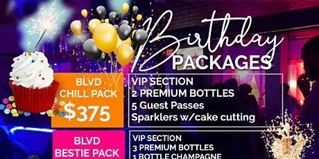 BIRTHDAY PACKAGES tickets
