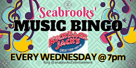 SEABROOKS' MUSIC BINGO!GREAT MUSIC,FAMILY FUN!KICKBACK JACKS,MOORESVIILE,NC tickets