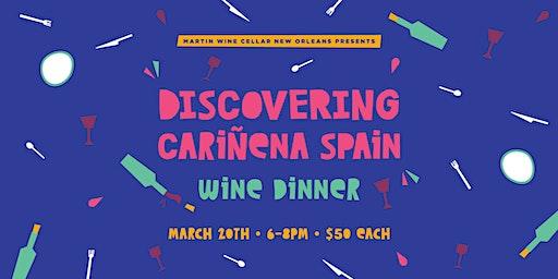 Discovering Cariñena Spain Wine Dinner
