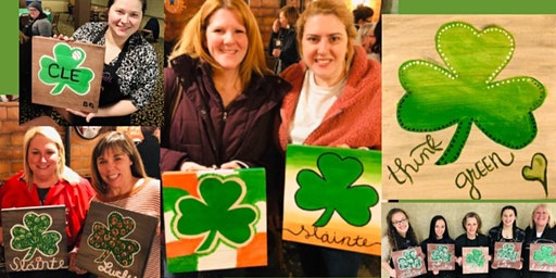 Chagrin Panini's Paint and Sip Shamrock on Wood with Any Designs and Colors