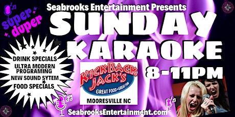 SEABROOKS' KARAOKE & COCKTAILS:8-11PM @KICKBACK JACKS,MOORESVILLE NC tickets